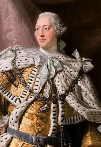Siege of Fort Ticonderoga (1777) - King George III, detail of portrait by Allan Ramsay