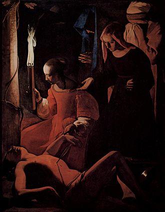 Saint Sebastian - St. Sebastian tended by Saint Irene, Georges de La Tour c 1645