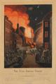 Gerhard Ludvig Lahde after Christoffer Wilhelm Eckersberg - Vor Frue Taarns Brand Natten mellem 4.-5. Sept. 1807 seet fra Landemærket.png