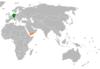 Lage von Deutschland und Jemen