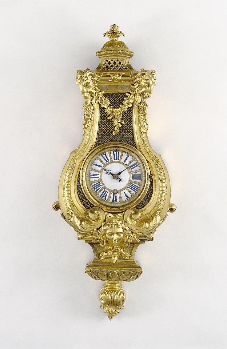 J Paul Getty Museum Wall Clock Attributed