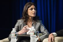Ghida Fakhry moderating at the World Bank Group-IMF Spring Meetings 2017.jpg