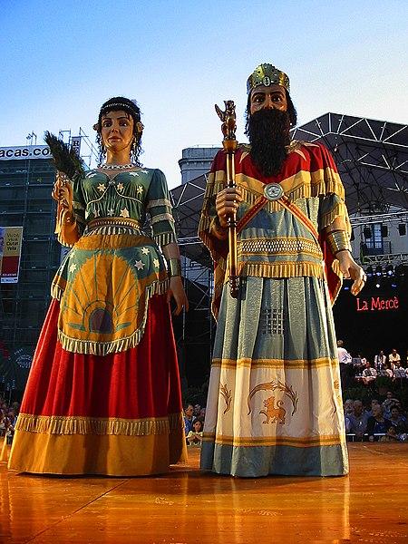 Gigantes en la Fiesta de la Mercè de Barcelona