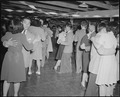 Gila River Relocation Center, Rivers, Arizona. A view at a dance given at camp ^2 to celebrate the . . . - NARA - 538639.tif