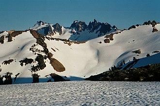 Goat Rocks - The Goat Rocks, with Gilbert Peak at upper left