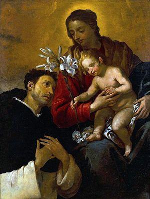 Giovanni Andrea de Ferrari - Madonna and Child with St. Dominic