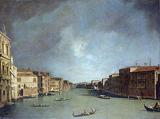 Le Grand Canal, vers le Palazzo Balbi