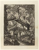 Giovanni Battista Piranesi - Le Carceri d'Invenzione - Second Edition - 1761 - 07 - The Drawbridge.jpg