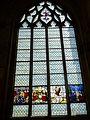 Gisors (27), collégiale St-Gervais-et-St-Protais, collatéral sud, verrière n° 18 - donateurs, Transfiguration 1.jpg