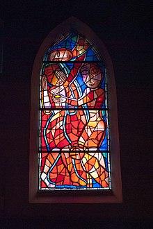 Una vetrata contemporanea alla Ruprechtskirche di Vienna