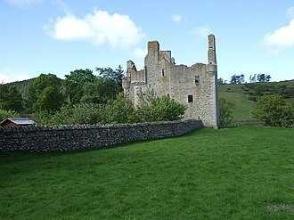 Clan Gordon - The ruins of Glenbuchat Castle, former seat of the Gordons of Glenbuchat.