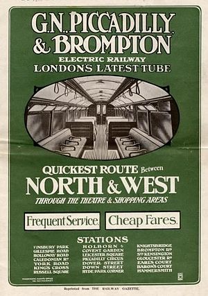 Great Northern, Piccadilly and Brompton Railway - Pamphlet promoting the line from 1906