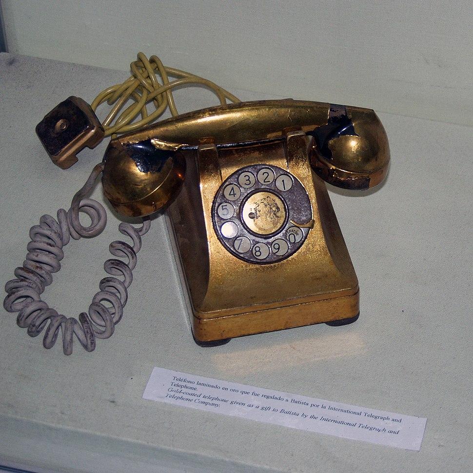 Gold coated telephone batista ITT habana