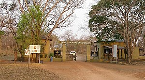 Gorongosa National Park - Image: Gorongosa Park Gate