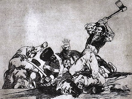 One of Los desastres de la guerra, aquatint by Goya Goya War2.jpg