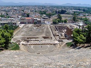 Argos - View of Argos, seen from the ancient theatre