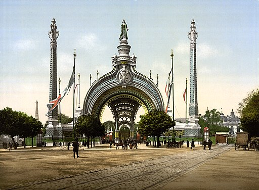 Grand entrance, Exposition Universal, 1900, Paris, France