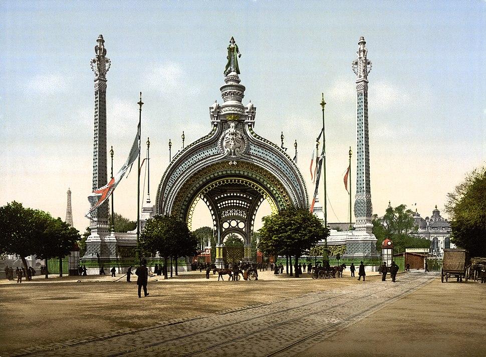 Grand entrance, Exposition Universal, 1900, Paris, France