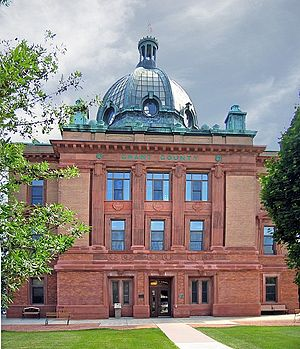 Lancaster, Wisconsin - Grant County Courthouse in Lancaster