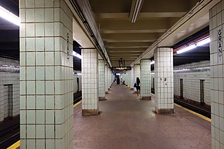 Grant Avenue (IND Fulton Street Line) New York City Subway station in Brooklyn