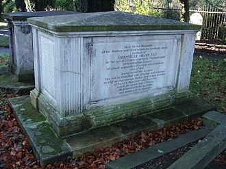 Granville Sharp - Granville Sharp's tomb at All Saints', Fulham, after restoration.