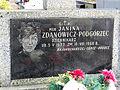 Grave of Janina Zdanowicz - Podgórzec at Powązki Cemetery - 01.jpg
