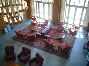 Gerald R. Ford School of Public Policy - The Great Hall, which is most often used as a study area but also hosts events.