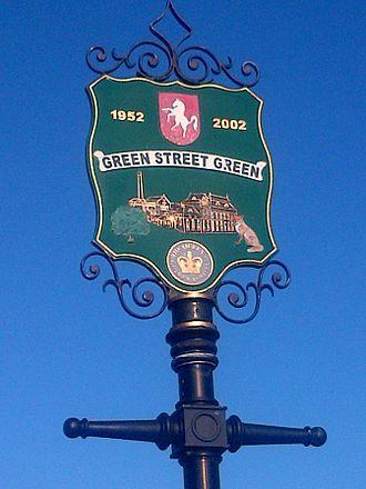 Green Street Green - Image: Green Street Green village sign