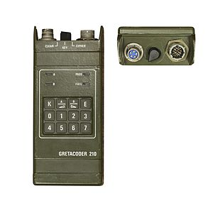 Secure voice - Gretacoder 210 secure radio system.