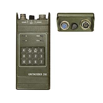 Secure voice - Gretacoder 210 secure radio system.