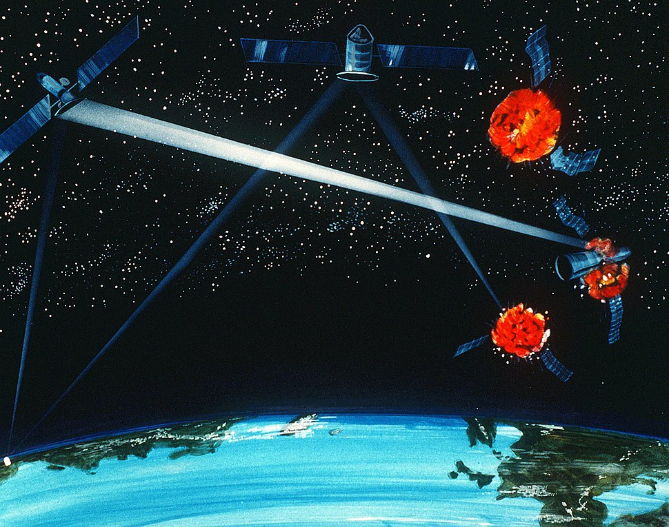 Ground-Space based hybrid laser weapon concept art