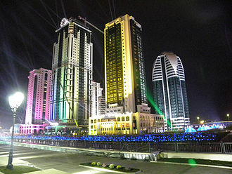 Grozny - Grozny-City Towers in 2012