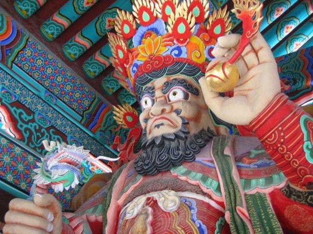 Guard statue in a Korean temple