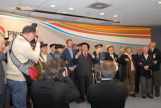 Euzko Gudarostea - PNV members celebrate the Gudari Eguna.