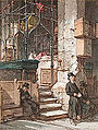 Guido Bach The interior of the Old-New Synagogue (Altneuschulin), Prague 1868.jpg