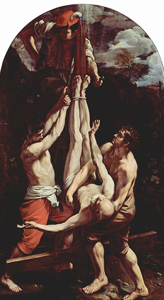 Crucifixion de Saint Pierre par Guido Reni à la Pinacoteca Vaticana à Rome.