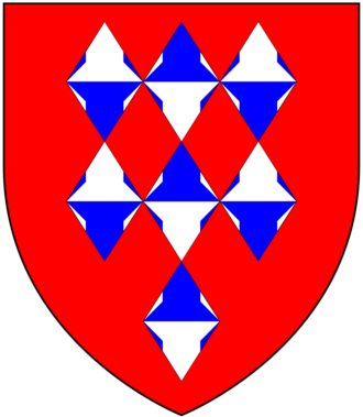 Guise baronets - Arms of Guise: Gules, seven lozenges conjoined vairé three, three and one. In 1863 the Guise baronets were granted heraldic supporters (usually only borne by peers) to descend to heirs male of the body on succession to the baronetcy
