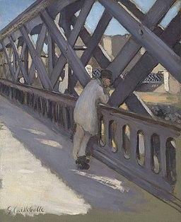 Gustave Caillebotte - Le pont de l Europe etude partielle