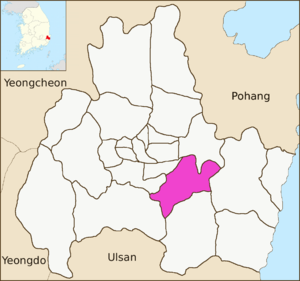 Bulguk-dong - Image: Gyeongju map Bulguk dong 01