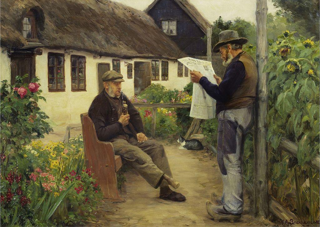 H. A. Brendekilde - Mens du læser avisen nyheder (1912).jpg