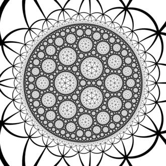 Order-7 triangular tiling - Image: H3 337 UHS plane at infinity