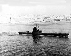 USS Jack (SS-259) - Jack as Amfitriti (S17) in August 1961.