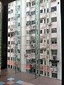HK 堅尼地城 Kennedy Town 士美非路市政大廈 Smithfield Municipal Services Building 落地玻璃 glass wall 外望景觀 view 聯德新樓 Luen Tak Apartment Sept-2011.jpg