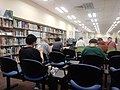 HK STT 石塘咀公共圖書館 Shek Tong Tsui Public Library interior visitor seats back August 2018 LGM 01.jpg
