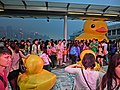 HK TST evening 168 yellow Rubber Duck visitors May 2013.JPG