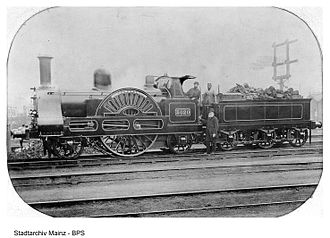 West Coast Main Line - 3020 Cornwall, an early LNWR express locomotive (built 1847, as running circa 1890)