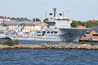 Submarine rescue ship - HSwMS Belos (A214) of the Swedish Navy