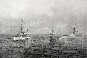 Acorn-class destroyer - Image: HMS Liverpool tows HMS Audacious