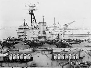 HMS Theseus (R64) with helicopters during Suez Crisis 1956.jpg