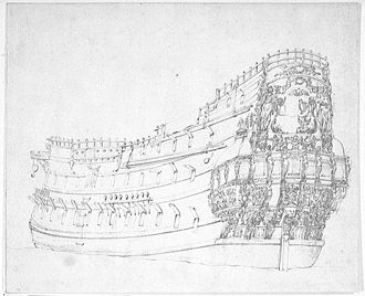 HMS Victory (1620) - Victory in 1655